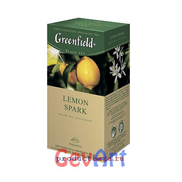 фото чай гринфилд с лимоном